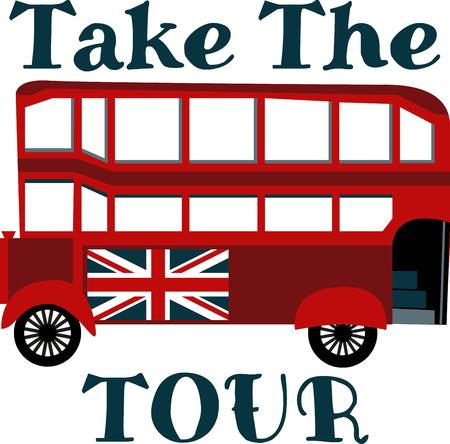 tour: Tour bus Illustration