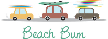 bum: Beach bum Illustration