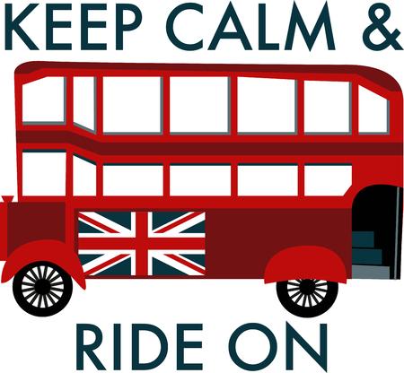 Tour bus Stock Illustratie