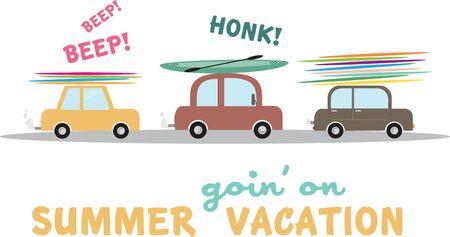 Summer vacation Иллюстрация