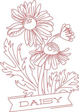 デイジーを連想させる無邪気な喜び、自然と通信し、それらに花の愛を奨励子供と時間を共有する時間を割いて  イラスト・ベクター素材