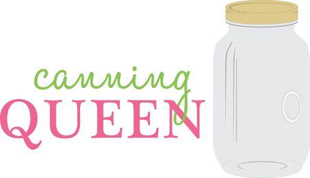 メーソン ジャーは、旧国の魅力をあなたの好きな飲料を機能します。この成形ガラス瓶とあなたの食品を保存します。   イラスト・ベクター素材