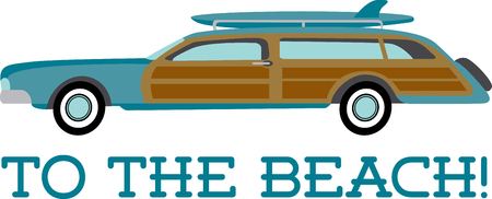 woody: Have a jolly and fun ride around the beach Illustration