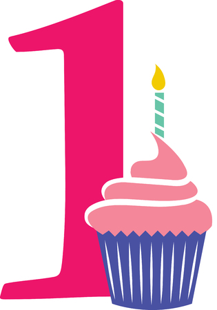 刺繍パターンによってこのデザインあなたの貴重な一つの最初の誕生日の特別な日を祝います。