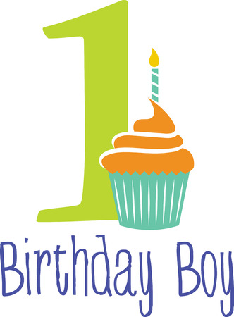 Celebrate the special day of your dear one first birthday with this design by embroidery patterns.