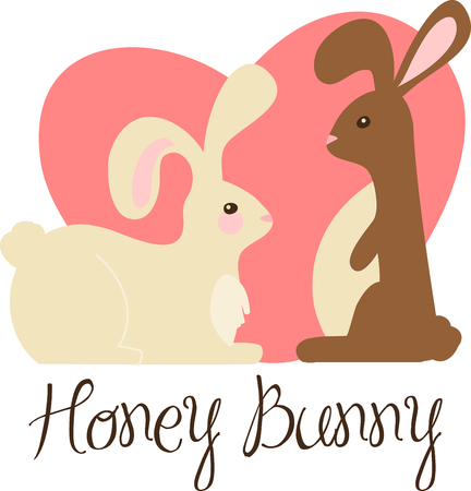 every day: celebrate your love every day with a romantic gift bunnies. With this design by embroidery patterns.