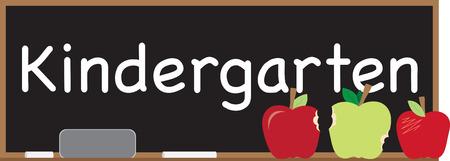 このデザインで特別な黒板幼稚園に特別な歓迎をステッチします。 それは素晴らしい教室旗の装飾