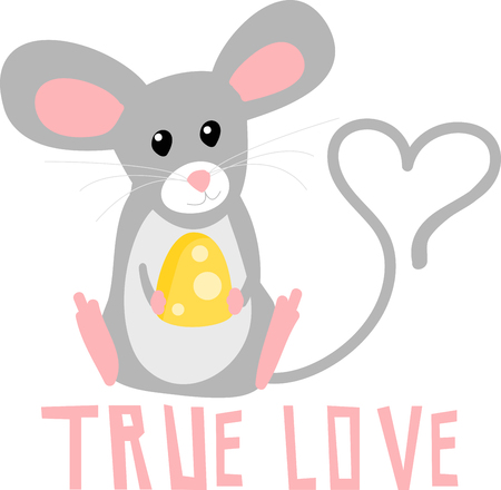 cheddar: Decorate your accessories with curiouscute and  charming mouse.