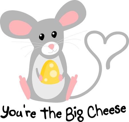 очаровательный: Украсьте ваши аксессуары с curiouscute и очаровательной мыши.