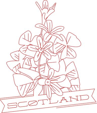 Shamrocks have lovely flowers and greenery.  This red work design highlights both.