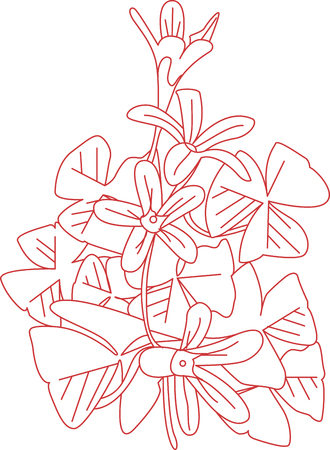shamrocks: Shamrocks have lovely flowers and greenery.  This red work design highlights both.