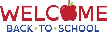 bite apple: Stitch a special welcome to school with this graphic text and apple design.  It makes a great classroom flag decoration