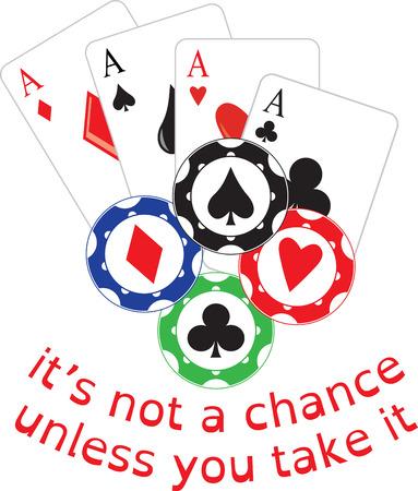 ポーカーを学ぶ日とマスターに寿命。  イラスト・ベクター素材