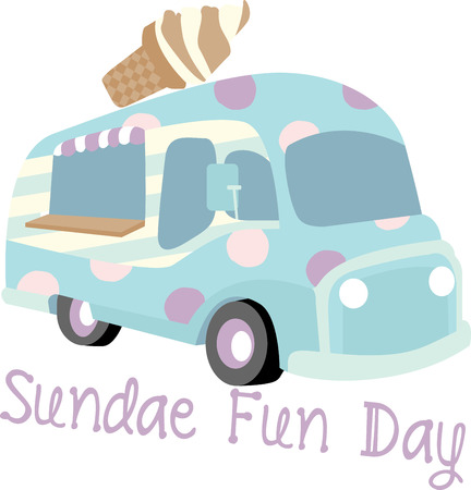 soft ice: Money cant buy happiness but it can buy Ice cream. Rush to Soft ice cream trucks and enjoy the deliciousness of ice cream. Illustration