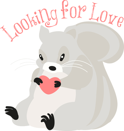 Love is in the  air for squirrels.pick those design by embroidery patterns.