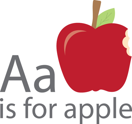 Our apple looks so yummy someone has already taken a bite!  It is a great design for a variety of projects for the classroom.