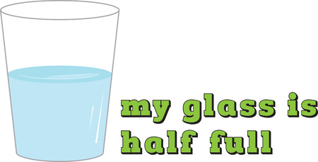 half full: Seeing the glass half full not only makes you happier it makes you healthier and wealthier.with this design by embroidery patterns.