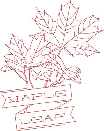 adorn: Preciosas hojas de arce redwork son una maravillosa manera de adornar sus proyectos favoritos.
