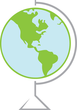 perfect fit: Where in the world would you like to go  This globe design is sure to be a perfect fit for so many travel related projects Illustration