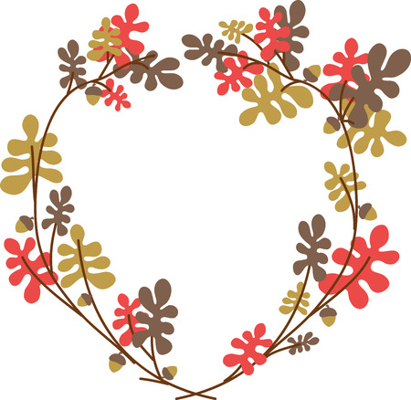 oak wreath: Decorating for fall is so much of fun. A great way to add a touch of the fall season to your home is with a Oak wreath