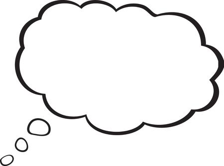 Pick the universal symbol of thinking in cartoons. Illusztráció