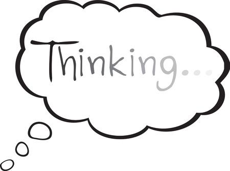 Pick the universal symbol of thinking in cartoons. Ilustracja