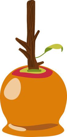 Enjoy caramel apple goodness whenever the mood strikes with Caramel Apple 向量圖像
