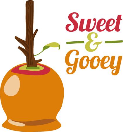 Enjoy caramel apple goodness whenever the mood strikes with Caramel Apple Illustration