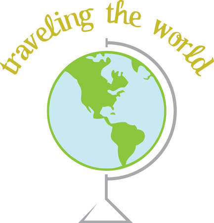 Where in the world would you like to go  This globe design is sure to be a perfect fit for so many travel related projects  イラスト・ベクター素材