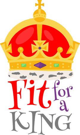 fit: Cordones un ajuste art�culo para un rey Aseg�rese de que todo el mundo sabe exactamente eso con este elegante apto para una corona rey. Vectores