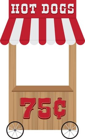 distribution automatique: Carnaval distributeurs stand et de rafra�chissement stand. Illustration