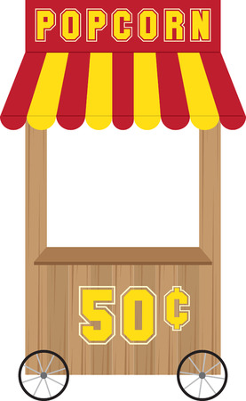 seller: Carnival vending booth and refreshment stand.