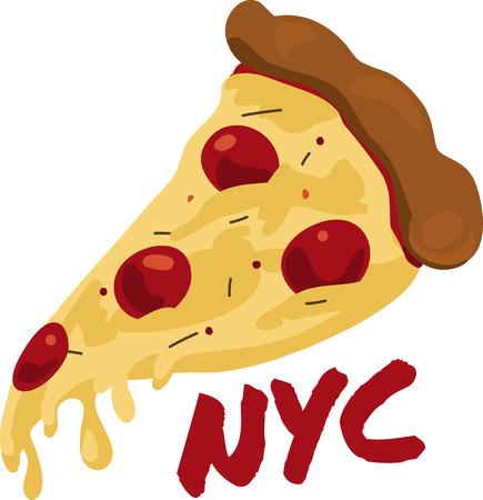 安っぽいスライス空腹になりますペパロニのピザです。ニューヨーク スタイルを作られました。