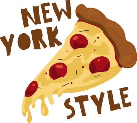 Cheesy slice a pepperoni pizza that makes you hungry. Made New York Style.