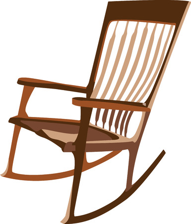 rocking: Get the stylish and comfortable rocking chairs for your home .with this design by embroidery patterns. Illustration