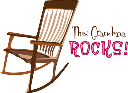 rocking chair: Get the stylish and comfortable rocking chairs for your home .with this design by embroidery patterns. Illustration