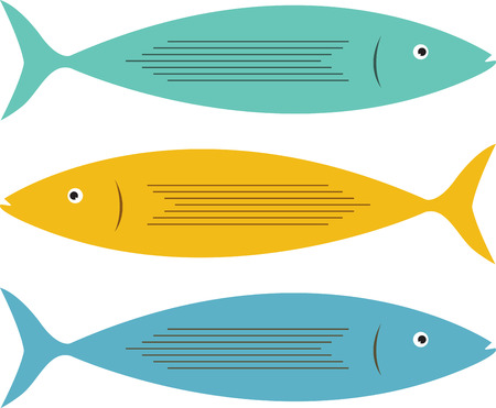 get together: Stack fishes for a get together party at home.