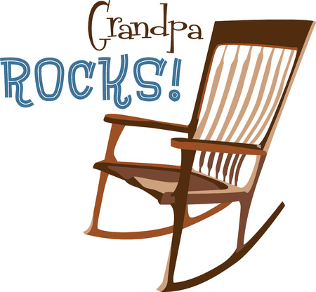 Get the stylish and comfortable rocking chairs for your home .with this design by embroidery patterns. Illustration