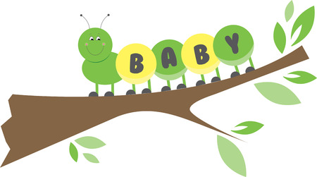 Cuddle up to this cute multi coloured baby caterpillar with this design by Embroidery patterns