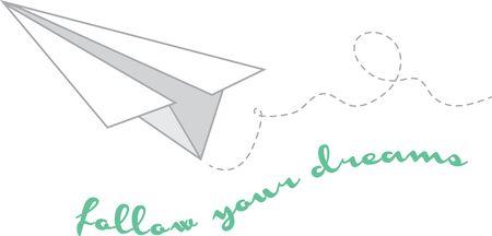 좋아하는 교육자 또는 좋아하는 졸업생에게 영감을 줄 수있는이 향수 종이 비행기를 사용하십시오. 일러스트