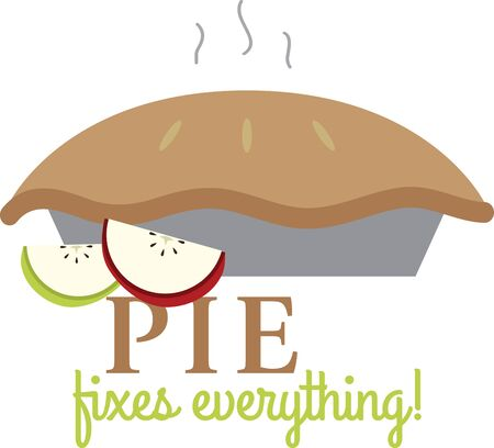 Try to not eat this apple pie design This would look delicious on your Thanksgiving project. Ilustrace