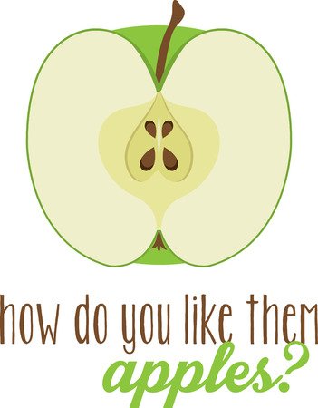 This healthy apple is great for your fruitloving friend. Ilustração