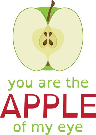이 건강한 사과는 과일을 좋아하는 친구에게 좋습니다.