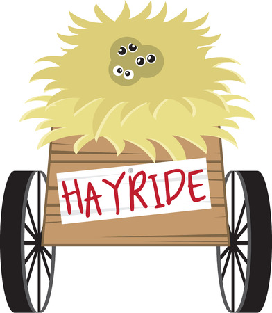 hayride: This hayride design is perfect for your fun fall project.