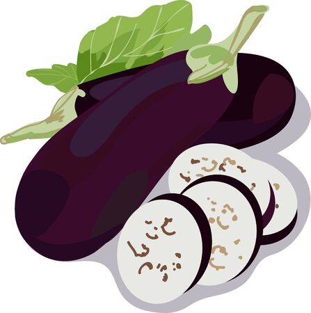Italian Risotto tastes better with these Fried Eggplants Иллюстрация