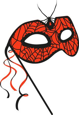 Couvrez votre visage avec ce masque de fantaisie. Choisissez ceux conception par des motifs de broderie.