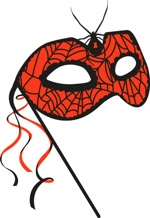 Cover your face with this fancy mask. Pick those design by embroidery patterns. Ilustração