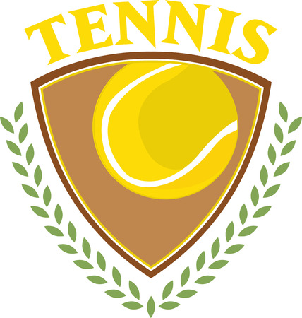 This is a classy emblem for sports apparel or bags.  Stitch this lovely  tennis emblem to support your sport hero.