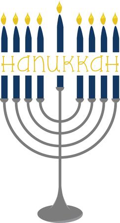 This menorah is a great design for your Hanukkah celebrations. Stok Fotoğraf - 41569455