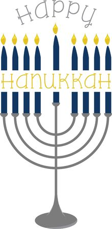 This menorah is a great design for your Hanukkah celebrations.